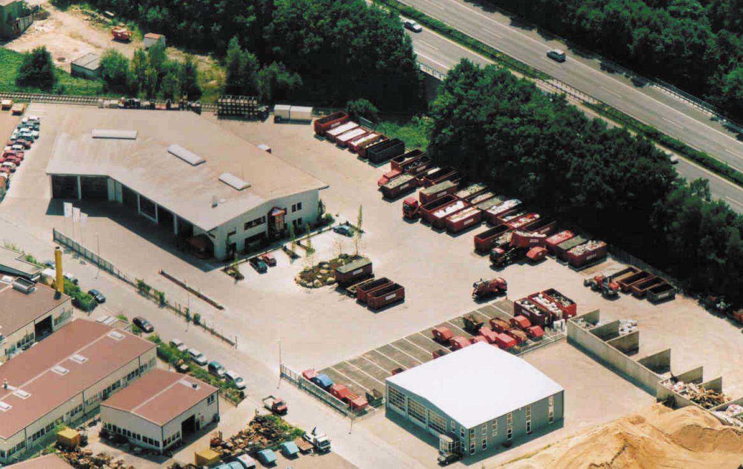 Luftbild auf die Hans Meyer Entsorgungs GmbH